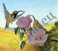 Цветы и колибри-1