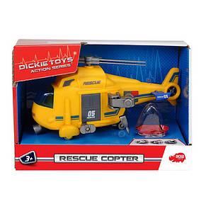 """Вертолёт службы спасения с лебёдкой """"Rescue Copter"""", 18 см «Dickie Toys» (3302003), фото 2"""