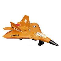Игрушечные машинки и техника «Dickie Toys» (3553006) военный самолет, 17 см (жёлтый)