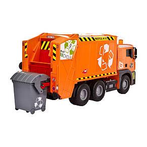 """Мусоровоз """"MAN"""" с мусорным контейнером и ограждением, 22 см (красный) «Dickie Toys» (3343000), фото 2"""