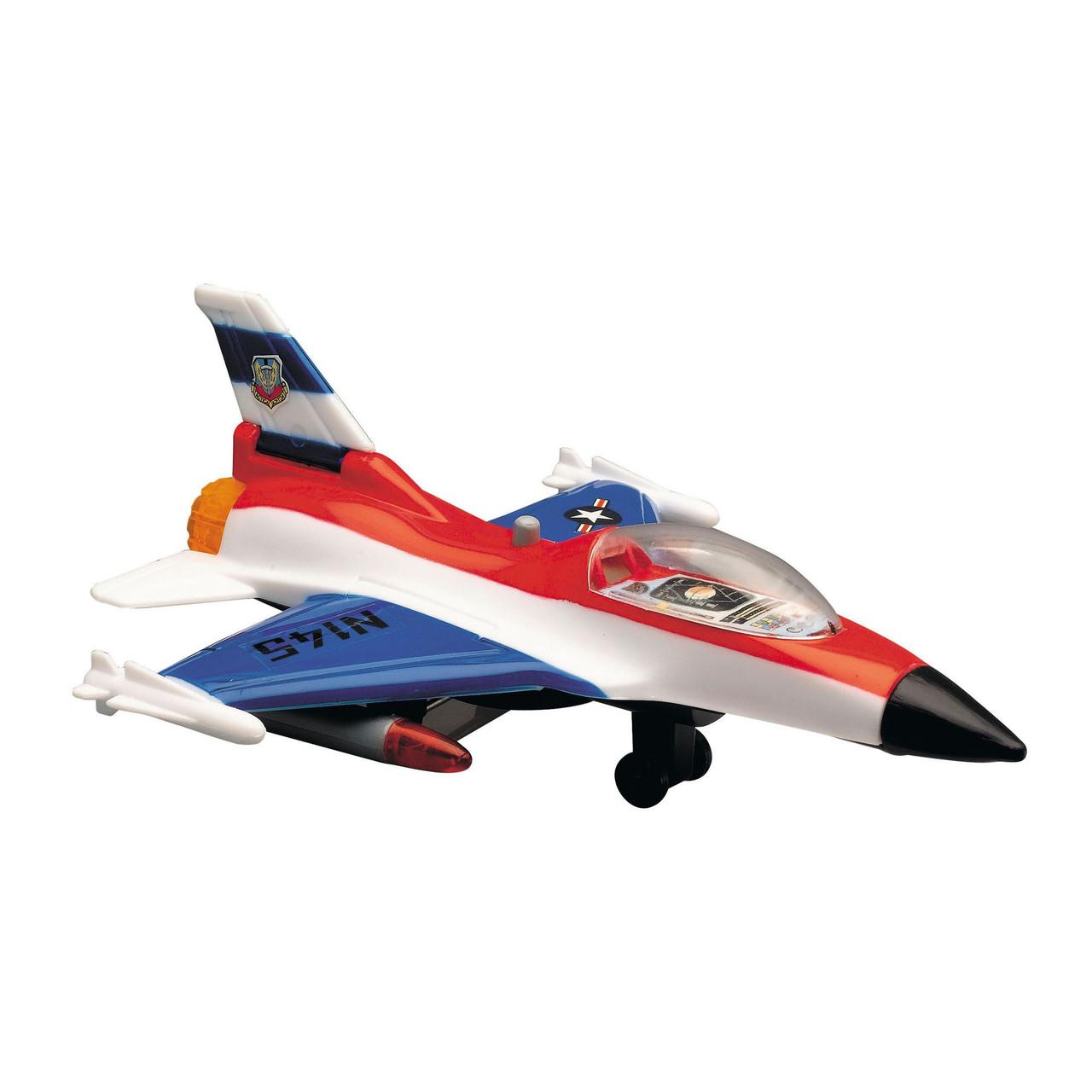 Военный самолет, 17 см (бело-красно-синий) «Dickie Toys» (3553006)