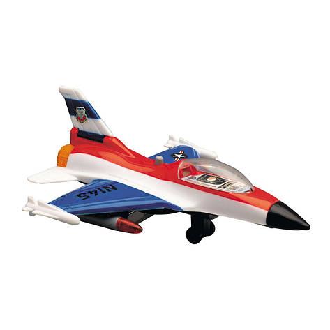 Игрушечные машинки и техника «Dickie Toys» (3553006) военный самолет, 17 см (бело-красно-синий), фото 2