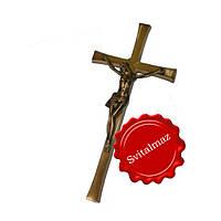 Крестик с распятием на памятник из камня и мрамора.