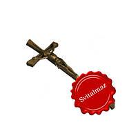 Бронзовый крест с распятием католическое и православное.