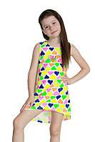 Детский летний сарафан туника для девочек 6-9 лет