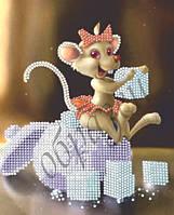 Схема для вышивки бисером Мышка-Сладкоежка КМР 5001