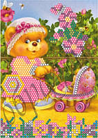 Схема для вышивки бисером Я маленькая мама КМР 5022