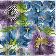 Схема для вышивки бисером Цветочная фантазия-1(полная зашивка) КМР 5034