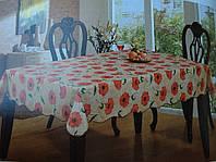 Скатерть кухонная с маками винил, фото 1