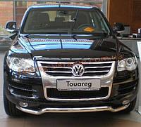 Защита переднего бампера труба изогнутая D60 на Volkswagen Touareg 2003-2010
