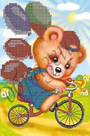 Схема для вышивки бисером Ехали медведи на велосипеде КМР 5032