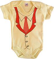 Детский боди-футболка, от 3 до 18 месяцев, желтый, Турция, оптом