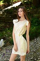 Женское летнее платье сарафан с поясом
