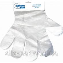 Перчатки полиэтиленовые с отрывом
