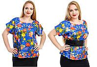 """Стильная блузка для пышных дам """" Принт """" Dress Code"""