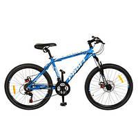 """Подростковый спортивный велосипед  PROFI  Liberty 24"""" (G24A316-2) BLUE"""