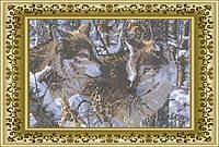 ЛВТ-2. Схема для вишивки бісером Пара вовків (кругова вишивка) fac19f508b21b