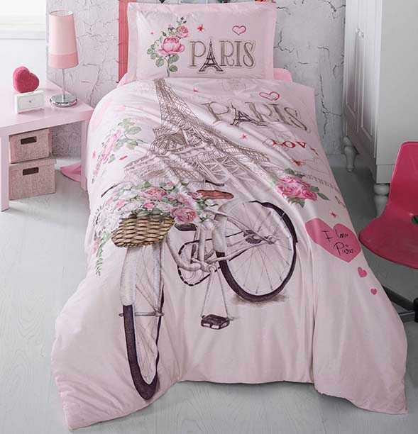 Купить Постельное бельё Ранфорс 160 220 (TM Clasy) Paris-love ... 2e3a0c7aebb34