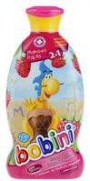 Детский шампунь-пена для ванн Bobini 2в1 малиновое  удовольствие