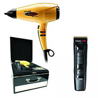 Набор машинка для стрижки X2 Ferrary + фен для волос BaByliss PRO Italia Brava (BABFB2E)