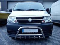 Защита переднего бампера (кенгурятник)  Toyota Hiace 2007+