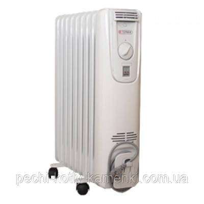 Масляний радіатор (обігрівач) Термія Н1225 Економ 2,5 кВт, фото 2