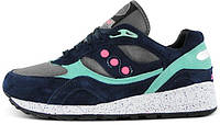 "Мужские кроссовки Offspring x Saucony Shadow 6000 ""Running Since '96″ Navy/Pink/Grey Review,саукони шадов"