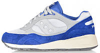 "Мужские кроссовки Saucony Shadow 6000 Premium Trainers ""Gray / Blue"", саукони шадов"