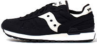 Мужские кроссовки Saucony shadow original Black/White, саукони шадов