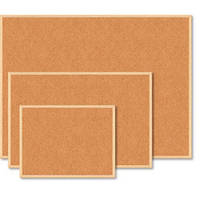 Доска пробковая BUROMAX 60 x 90 см деревянная рамка (BM.0014)