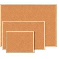 Доска пробковая BUROMAX 90 х 120 см деревянная рамка (BM.0015)