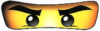 Наклейка Лего нинзяго 19,5х6см на воздушный шарик 26-30 см в диаметре