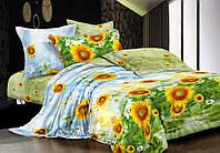 АКЦИЯ!Евро комплект постельного белья Подсолнухи
