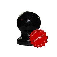Гранитный шар на ножке Ф8 см. из камня габбро буки (черный) для оград и заборов.