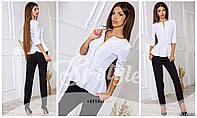 Костюм женский белый пиджак и брюки