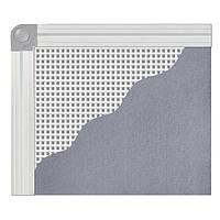 Доска магнитно-текстильная BUROMAX 60x90см, алюминиевая рамка (BM.0020)