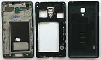 Корпус Original к мобильному телефону LG P713 L7-2, чёрный, full