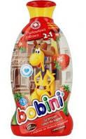 Детский шампунь-пена для ванн Bobini 2в1 Клубничная забава