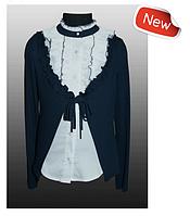 Красивая школьная блузка-обманка для девочки