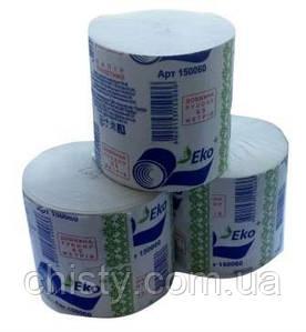 Туалетная бумага в стандартных рулонах без гильзы ЕКО+ 65м.