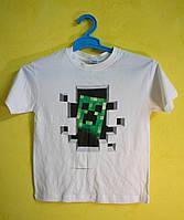 Белая детская футболка Minecraft
