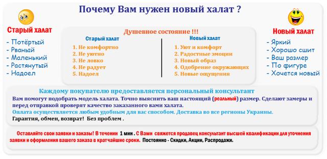 продажа халатов по всей Украине