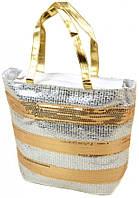 Яркая летняя сумка Podium PC5599A-1 white silver, белый/серебристый