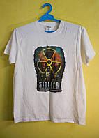Белая двухсторонняя футболка Stalker Artem размер S