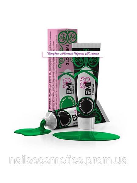 Зеленый изумруд GLOSSEMI гель-краска Е.Мi 5мл