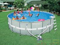 Бассейн каркасный  INTEX Rectangular Ultra Frame Pool лный комплект
