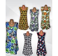 Платье женское летнее больших размеров 03448, хлопок, р.р.48-62