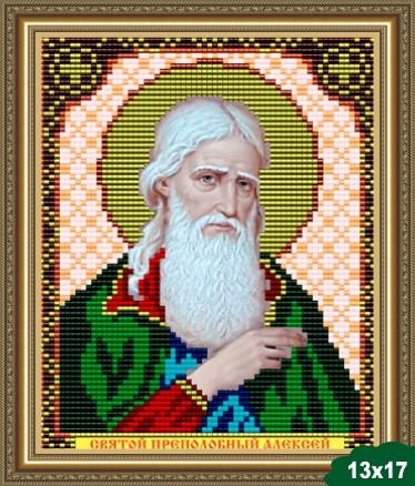 Набор для вышивки бисером икона Святой Преподобный Алексей VIA 5015