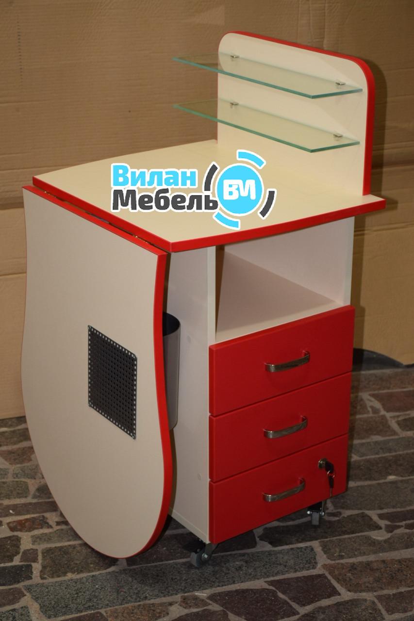 Складаний стіл для манікюру з вбудованою витяжкою