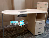 Складаний стіл для манікюру з вбудованою витяжкою, фото 6